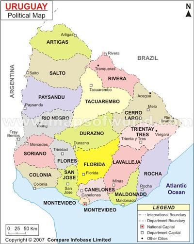 Carte Amerique Latine Uruguay.2 1 L Uruguay Paradisiaque Le Chemin Du Coeur